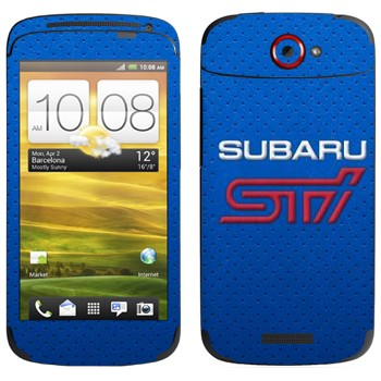 Виниловая наклейка «Логотип Subaru STI» на телефон HTC One S