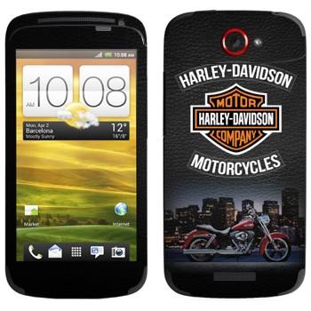 Виниловая наклейка «Мотоциклы Харлей-Дэвидсон» на телефон HTC One S