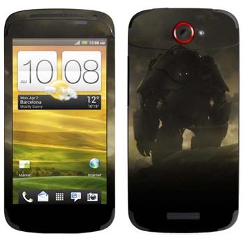 Виниловая наклейка «Робот в сумраке» на телефон HTC One S