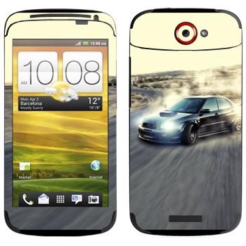 Виниловая наклейка «Subaru Impreza» на телефон HTC One S