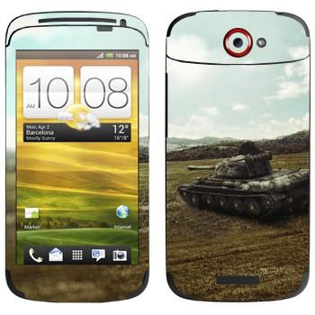 Виниловая наклейка «Танк T-44» на телефон HTC One S