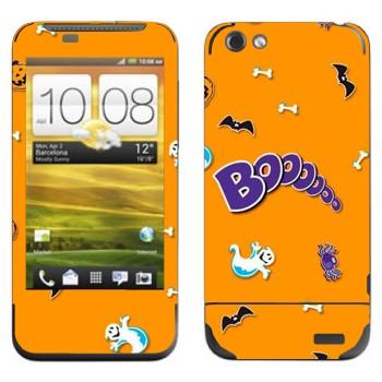 Виниловая наклейка «Бууу - Хэллоуин» на телефон HTC One V