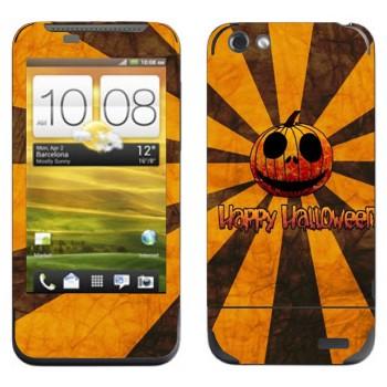 Виниловая наклейка «Тыква Happy Halloween» на телефон HTC One V