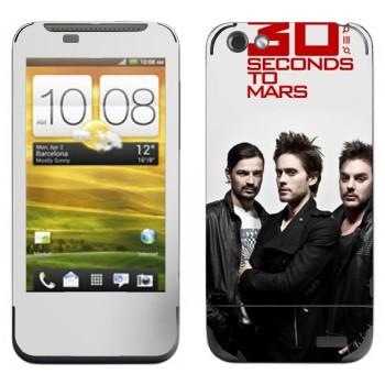 Виниловая наклейка «30 Seconds To Mars» на телефон HTC One V
