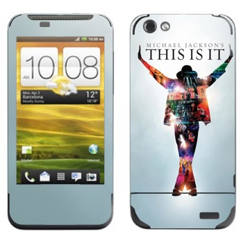Виниловая наклейка «Michael Jackson - This is it» на телефон HTC One V