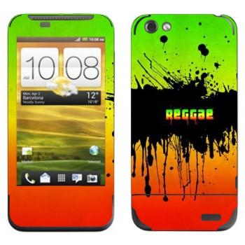 Виниловая наклейка «Reggae» на телефон HTC One V