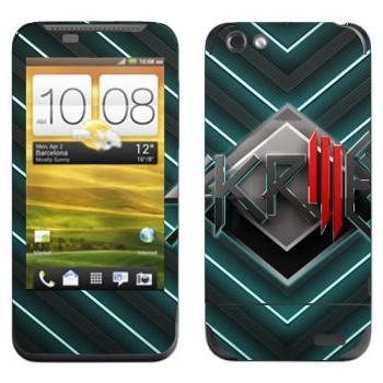 Виниловая наклейка «Skrillex логотип» на телефон HTC One V