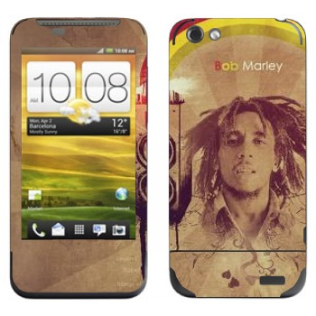Виниловая наклейка «Боб Марлей» на телефон HTC One V