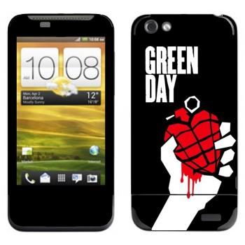 Виниловая наклейка «Группа Green Day» на телефон HTC One V