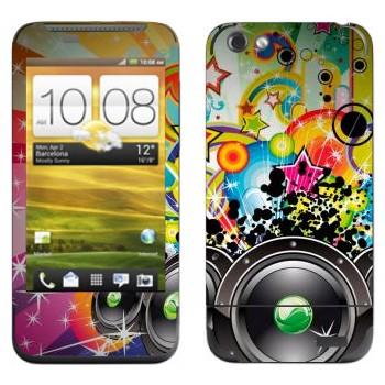 Виниловая наклейка «Музыкальная экспрессия - Динамики» на телефон HTC One V