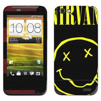 Виниловая наклейка «Нирвана» на телефон HTC One V