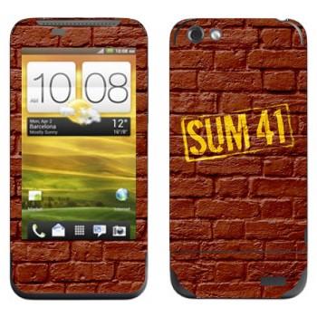 Виниловая наклейка «Панк-группа Sum 41» на телефон HTC One V