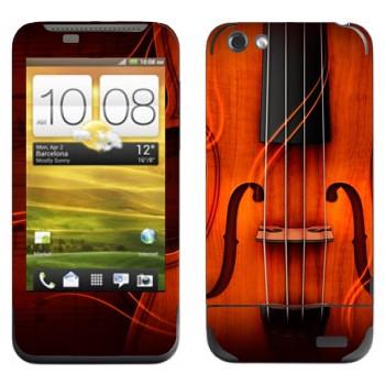 Виниловая наклейка «Скрипка» на телефон HTC One V