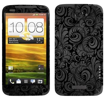 Виниловая наклейка «Черная хохлома» на телефон HTC One X