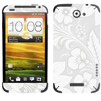 Виниловая наклейка «Хохлома белая» на телефон HTC One X
