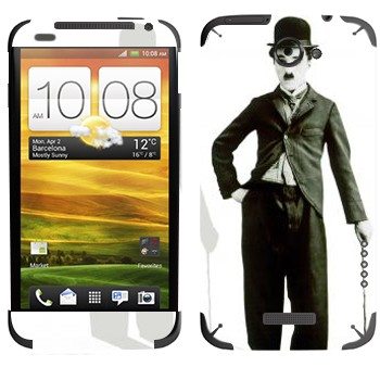 Виниловая наклейка «Чарли Чаплин» на телефон HTC One X