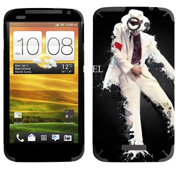 Виниловая наклейка «Майкл Джексон» на телефон HTC One X