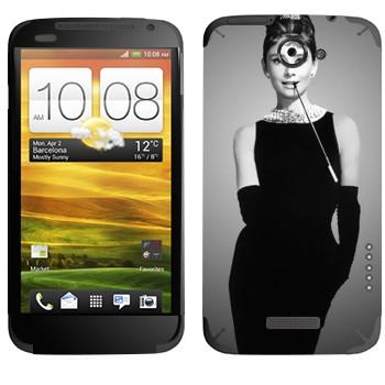 Виниловая наклейка «Одри Хепбёрн» на телефон HTC One X