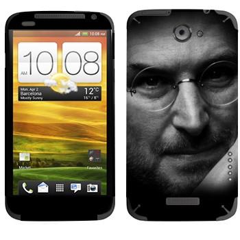 Виниловая наклейка «Стив Джобс» на телефон HTC One X