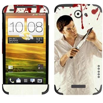 Виниловая наклейка «Dexter» на телефон HTC One X