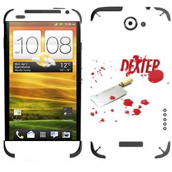Виниловая наклейка «Декстер» на телефон HTC One X