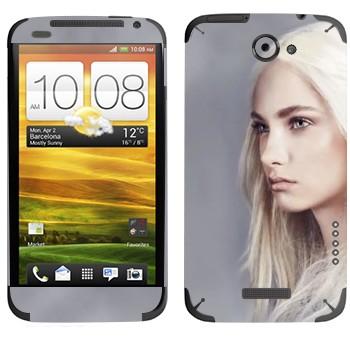 Виниловая наклейка «Девушка - Игра престолов» на телефон HTC One X