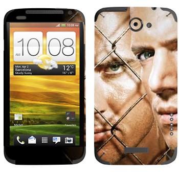 Виниловая наклейка «Майкл Скофилд и Линкольн Берроуз - Побег из тюрьмы» на телефон HTC One X