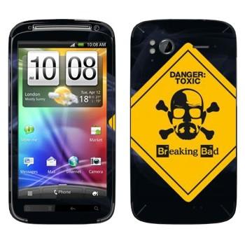Виниловая наклейка «Danger: Toxic - Во все тяжкие» на телефон HTC Sensation