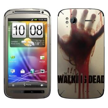 Виниловая наклейка «Dead Inside - Ходячие мертвецы» на телефон HTC Sensation