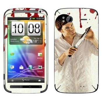 Виниловая наклейка «Dexter» на телефон HTC Sensation