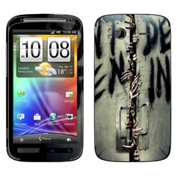 Виниловая наклейка «Don't open, dead inside - Ходячие мертвецы» на телефон HTC Sensation