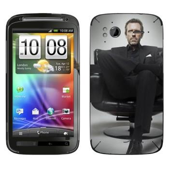 Виниловая наклейка «HOUSE M.D.» на телефон HTC Sensation