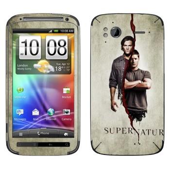 Виниловая наклейка «Братья Сэм и Дин Винчестеры» на телефон HTC Sensation