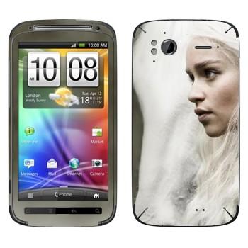 Виниловая наклейка «Дейнерис Таргариен - Игра престолов» на телефон HTC Sensation