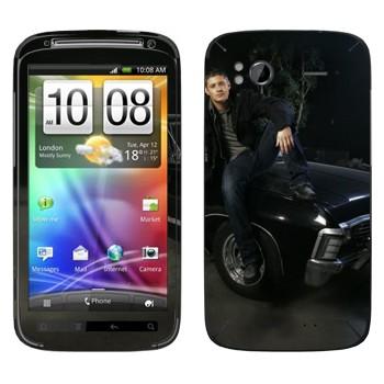 Виниловая наклейка «Дин Винчестер - Сверхъестественное» на телефон HTC Sensation