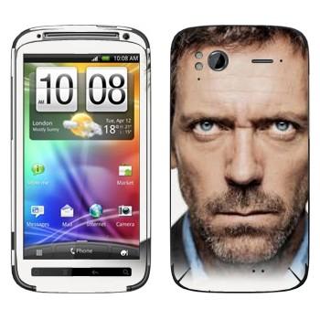 Виниловая наклейка «Доктор Хаус» на телефон HTC Sensation