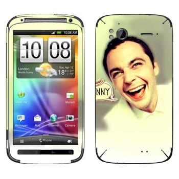 Виниловая наклейка «Доктор Шелдон Ли Купер» на телефон HTC Sensation