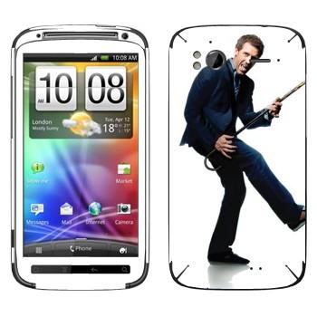 Виниловая наклейка «Грегори Хаус - Доктор Хаус» на телефон HTC Sensation