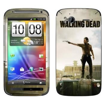 Виниловая наклейка «Ходячие мертвецы» на телефон HTC Sensation