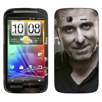 Виниловая наклейка «Кэл Лайтман - Lie to me» на телефон HTC Sensation