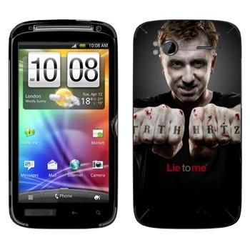 Виниловая наклейка «Кэл Лайтман - Обмани меня» на телефон HTC Sensation