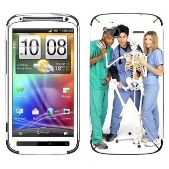 Виниловая наклейка «Клиника сериал» на телефон HTC Sensation