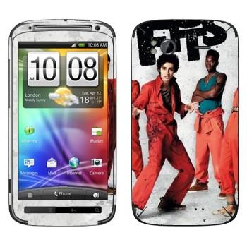 Виниловая наклейка «Отбросы 1-й сезон» на телефон HTC Sensation