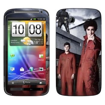 Виниловая наклейка «Отбросы 2-й сезон» на телефон HTC Sensation