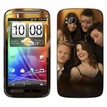 Виниловая наклейка «Персонажи How I Met Your Mother» на телефон HTC Sensation