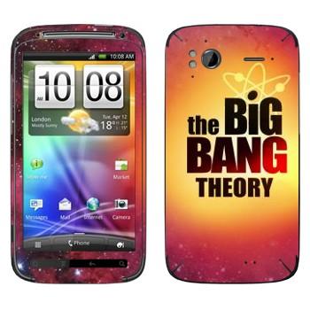 Виниловая наклейка «Теория большого взрыва» на телефон HTC Sensation