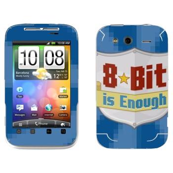 Виниловая наклейка «8 бит достаточно» на телефон HTC Wildfire S