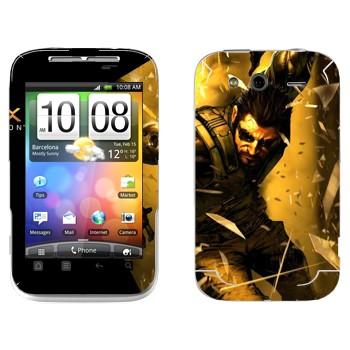 Виниловая наклейка «Adam Jensen - Deus Ex» на телефон HTC Wildfire S