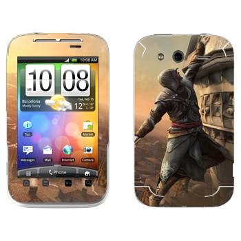 Виниловая наклейка «Assassin's Creed: Revelations - падение» на телефон HTC Wildfire S