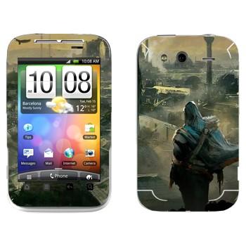 Виниловая наклейка «Assassin's Creed» на телефон HTC Wildfire S